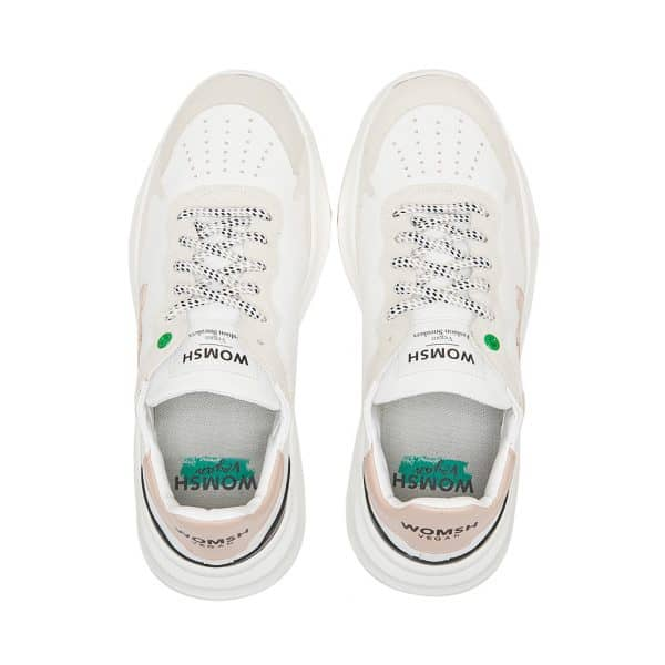 Vegan Wave White Rose sneaker van de bovenkant