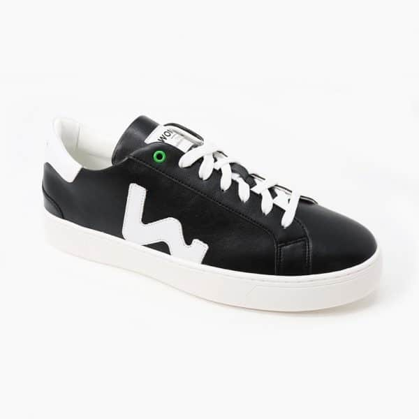 Womsh Vegan Sneaker Black Black White My Vegan World 01
