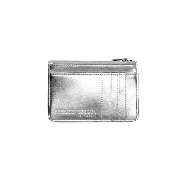 my vegan world denise roobol mini wallet silver vegan portemonee 2