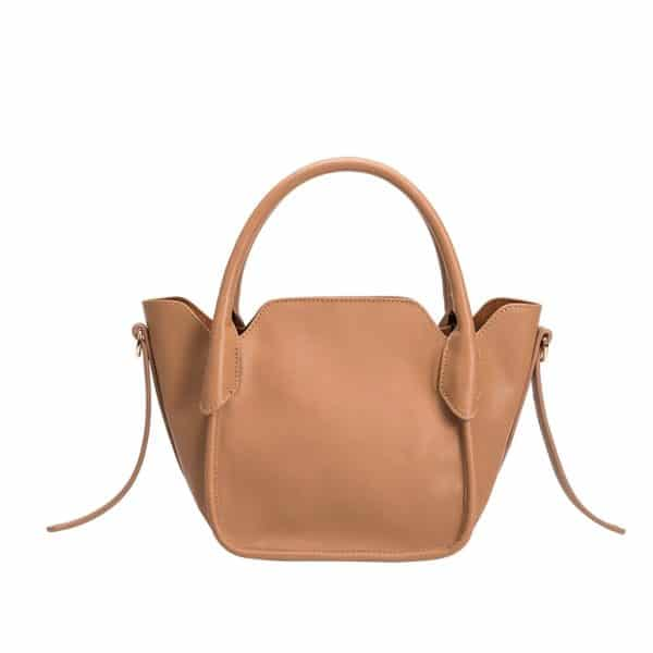 Melie Bianco - Carter Tan vegan handtas en crossbody